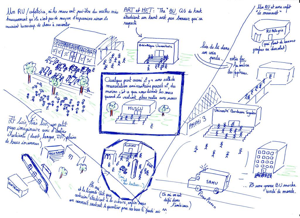 Carte Campus Bordeaux.Carte Du Campus Deux Degres