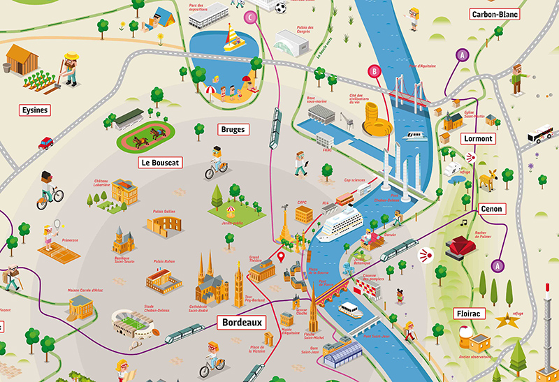 carte touristique de bordeaux - Photo