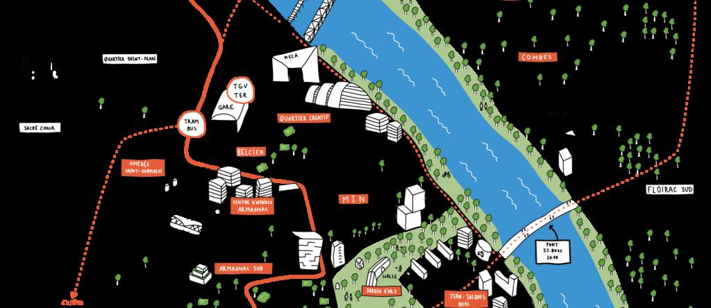 Carte Campus Bordeaux.Carte De Bordeaux Euratlantique Deux Degres